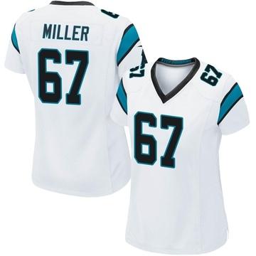 Women's Nike Carolina Panthers John Miller White Jersey - Game