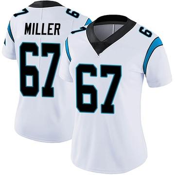 Women's Nike Carolina Panthers John Miller White Vapor Untouchable Jersey - Limited