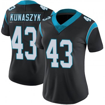 Women's Nike Carolina Panthers Jordan Kunaszyk Black Team Color Vapor Untouchable Jersey - Limited