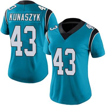 Women's Nike Carolina Panthers Jordan Kunaszyk Blue Alternate Vapor Untouchable Jersey - Limited