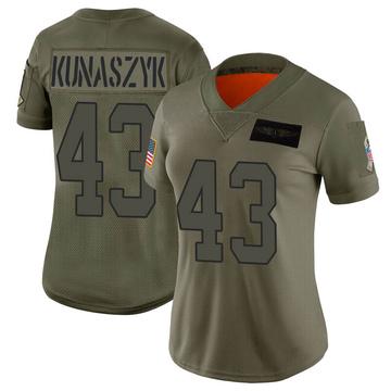 Women's Nike Carolina Panthers Jordan Kunaszyk Camo 2019 Salute to Service Jersey - Limited