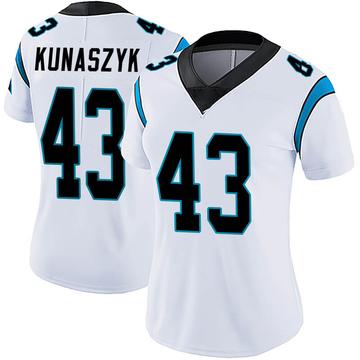 Women's Nike Carolina Panthers Jordan Kunaszyk White Vapor Untouchable Jersey - Limited