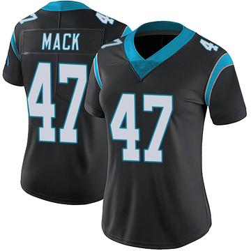 Women's Nike Carolina Panthers Jordan Mack Black Team Color Vapor Untouchable Jersey - Limited
