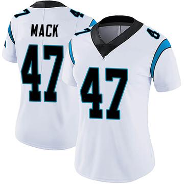 Women's Nike Carolina Panthers Jordan Mack White Vapor Untouchable Jersey - Limited