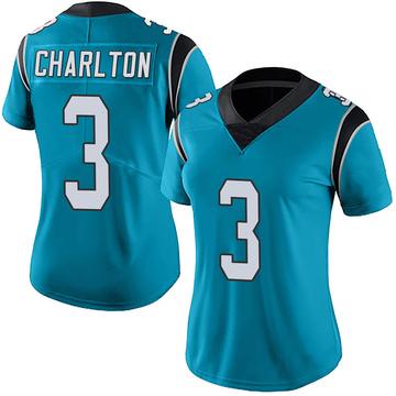 Women's Nike Carolina Panthers Joseph Charlton Blue Alternate Vapor Untouchable Jersey - Limited