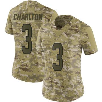 Women's Nike Carolina Panthers Joseph Charlton Camo 2018 Salute to Service Jersey - Limited