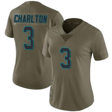 Women's Nike Carolina Panthers Joseph Charlton Green 2017 Salute to Service Jersey - Limited