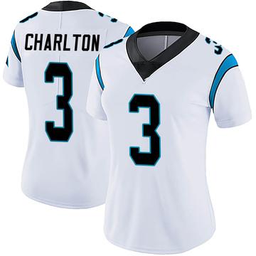 Women's Nike Carolina Panthers Joseph Charlton White Vapor Untouchable Jersey - Limited