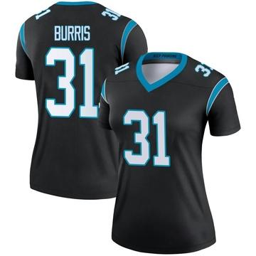 Women's Nike Carolina Panthers Juston Burris Black Jersey - Legend