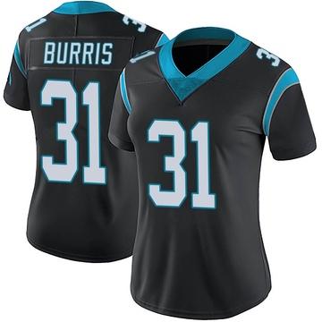 Women's Nike Carolina Panthers Juston Burris Black Team Color Vapor Untouchable Jersey - Limited