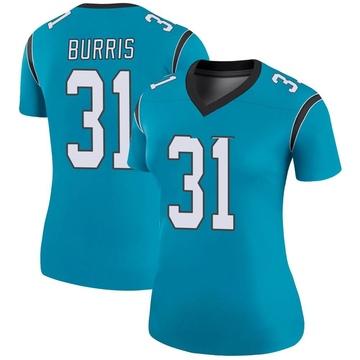 Women's Nike Carolina Panthers Juston Burris Blue Color Rush Jersey - Legend