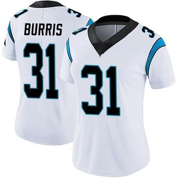 Women's Nike Carolina Panthers Juston Burris White Vapor Untouchable Jersey - Limited
