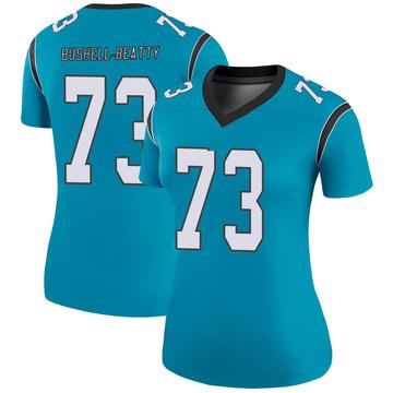 Women's Nike Carolina Panthers Juwann Bushell-Beatty Blue Color Rush Jersey - Legend