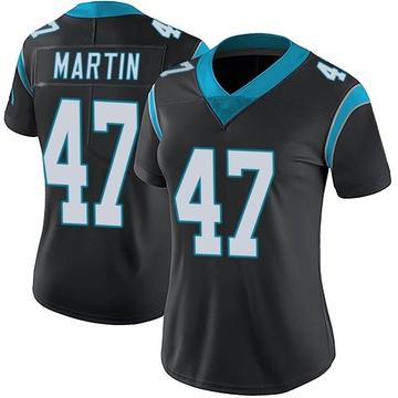 Women's Nike Carolina Panthers Kamal Martin Black Team Color Vapor Untouchable Jersey - Limited