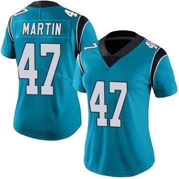 Women's Nike Carolina Panthers Kamal Martin Blue Alternate Vapor Untouchable Jersey - Limited