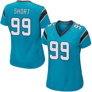 Women's Nike Carolina Panthers Kawann Short Blue Alternate Jersey - Game