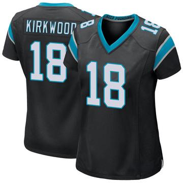 Women's Nike Carolina Panthers Keith Kirkwood Black Team Color Jersey - Game