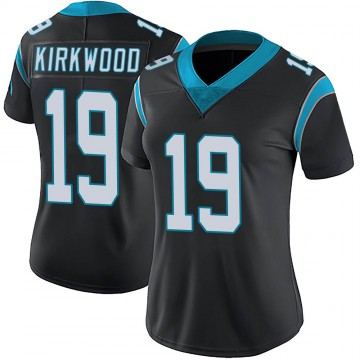 Women's Nike Carolina Panthers Keith Kirkwood Black Team Color Vapor Untouchable Jersey - Limited