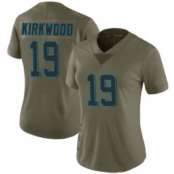 Women's Nike Carolina Panthers Keith Kirkwood Green 2017 Salute to Service Jersey - Limited