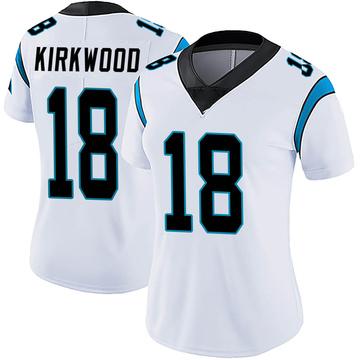 Women's Nike Carolina Panthers Keith Kirkwood White Vapor Untouchable Jersey - Limited