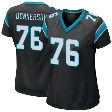 Women's Nike Carolina Panthers Kendall Donnerson Black Team Color Jersey - Game