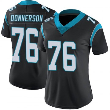 Women's Nike Carolina Panthers Kendall Donnerson Black Team Color Vapor Untouchable Jersey - Limited