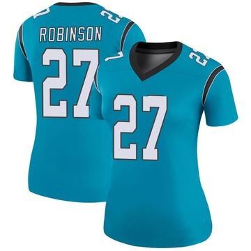 Women's Nike Carolina Panthers Kenny Robinson Blue Color Rush Jersey - Legend
