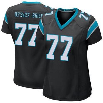 Women's Nike Carolina Panthers Kitt O'Brien Black Team Color Jersey - Game