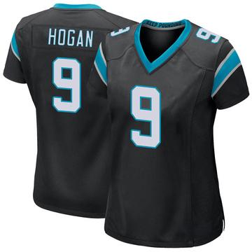Women's Nike Carolina Panthers Krishawn Hogan Black Team Color Jersey - Game