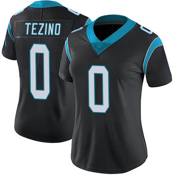 Women's Nike Carolina Panthers Kyahva Tezino Black Team Color Vapor Untouchable Jersey - Limited