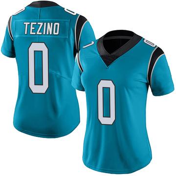 Women's Nike Carolina Panthers Kyahva Tezino Blue Alternate Vapor Untouchable Jersey - Limited