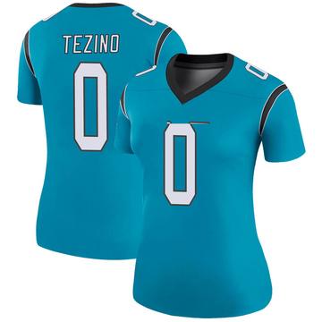 Women's Nike Carolina Panthers Kyahva Tezino Blue Color Rush Jersey - Legend