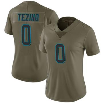 Women's Nike Carolina Panthers Kyahva Tezino Green 2017 Salute to Service Jersey - Limited