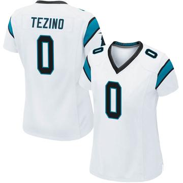 Women's Nike Carolina Panthers Kyahva Tezino White Jersey - Game