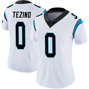 Women's Nike Carolina Panthers Kyahva Tezino White Vapor Untouchable Jersey - Limited