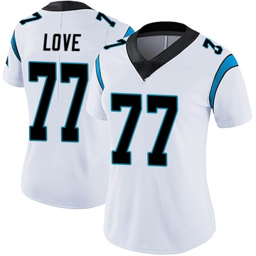 Women's Nike Carolina Panthers Kyle Love White Vapor Untouchable Jersey - Limited