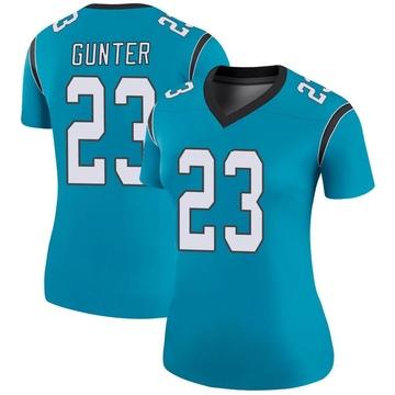 Women's Nike Carolina Panthers LaDarius Gunter Blue Color Rush Jersey - Legend