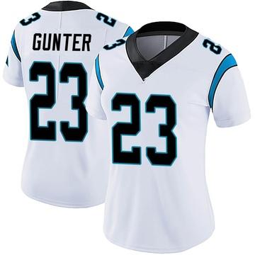 Women's Nike Carolina Panthers LaDarius Gunter White Vapor Untouchable Jersey - Limited