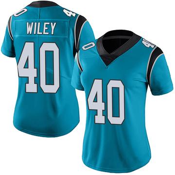 Women's Nike Carolina Panthers LaDarius Wiley Blue Alternate Vapor Untouchable Jersey - Limited
