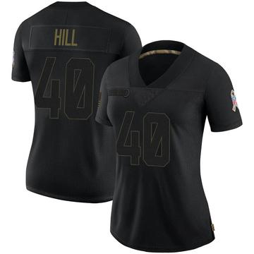 Women's Nike Carolina Panthers Lano Hill Black 2020 Salute To Service Jersey - Limited