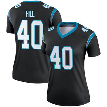 Women's Nike Carolina Panthers Lano Hill Black Jersey - Legend
