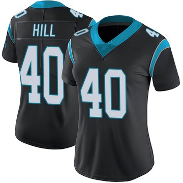 Women's Nike Carolina Panthers Lano Hill Black Team Color Vapor Untouchable Jersey - Limited