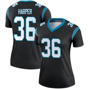 Women's Nike Carolina Panthers Madre Harper Black Jersey - Legend