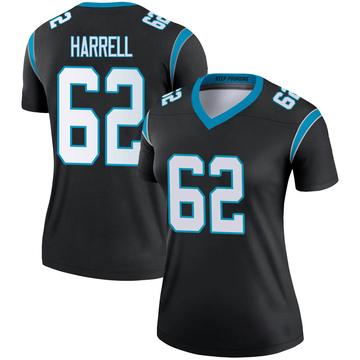 Women's Nike Carolina Panthers Marquel Harrell Black Jersey - Legend