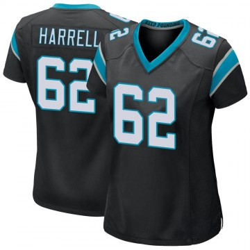 Women's Nike Carolina Panthers Marquel Harrell Black Team Color Jersey - Game