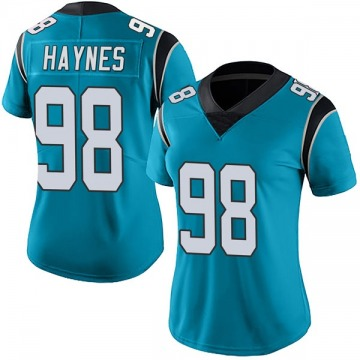 Women's Nike Carolina Panthers Marquis Haynes Blue Alternate Vapor Untouchable Jersey - Limited
