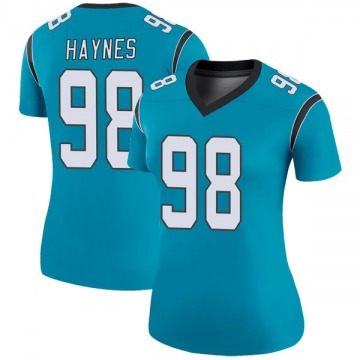 Women's Nike Carolina Panthers Marquis Haynes Blue Color Rush Jersey - Legend
