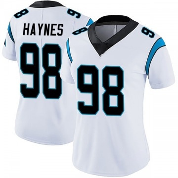 Women's Nike Carolina Panthers Marquis Haynes White Vapor Untouchable Jersey - Limited