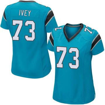 Women's Nike Carolina Panthers Martez Ivey Blue Alternate Jersey - Game