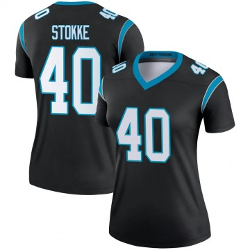 Women's Nike Carolina Panthers Mason Stokke Black Jersey - Legend